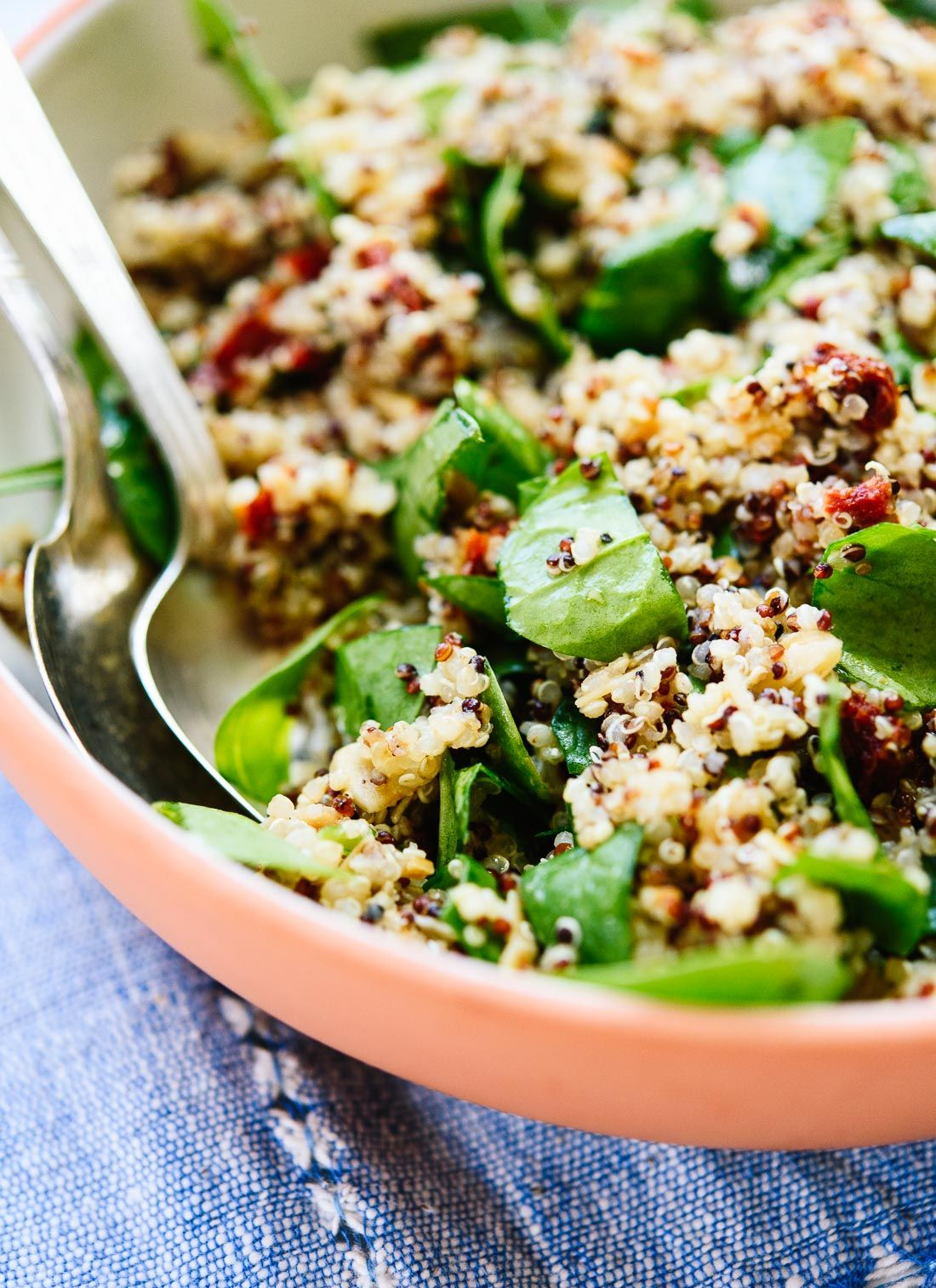 Sun Dried Tomato Spinach And Quinoa Salad Cookie And Kate Recipe Quinoa Salad Recipes Quinoa Salad Sun Dried Tomato