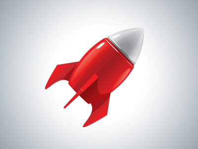 Red Rocket Battery Icon Icon Rocket