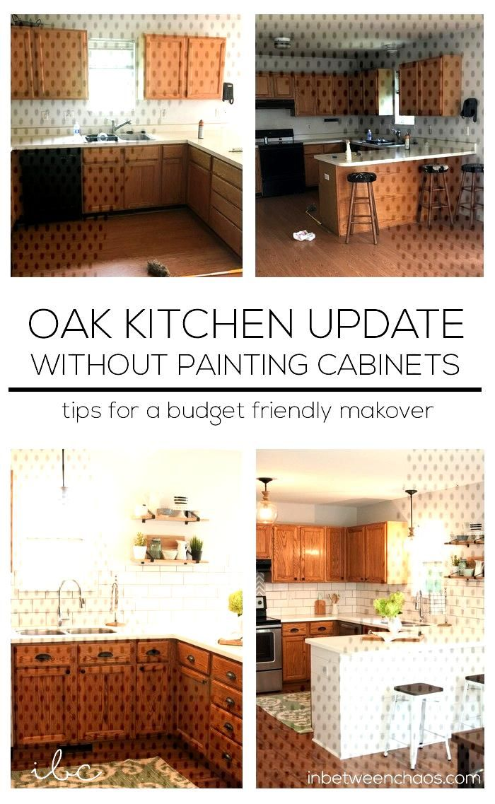 Updating a 90s kitchen – WITHOUT Painting Cabinets!You can find Updated kitchen and more on our website.Updating a 90s kitchen – WITHOUT Painting Cabinets!