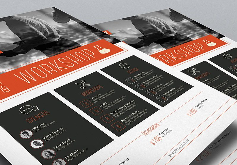 Corporate Flyer Template Workshop  Graphic Design  Logos