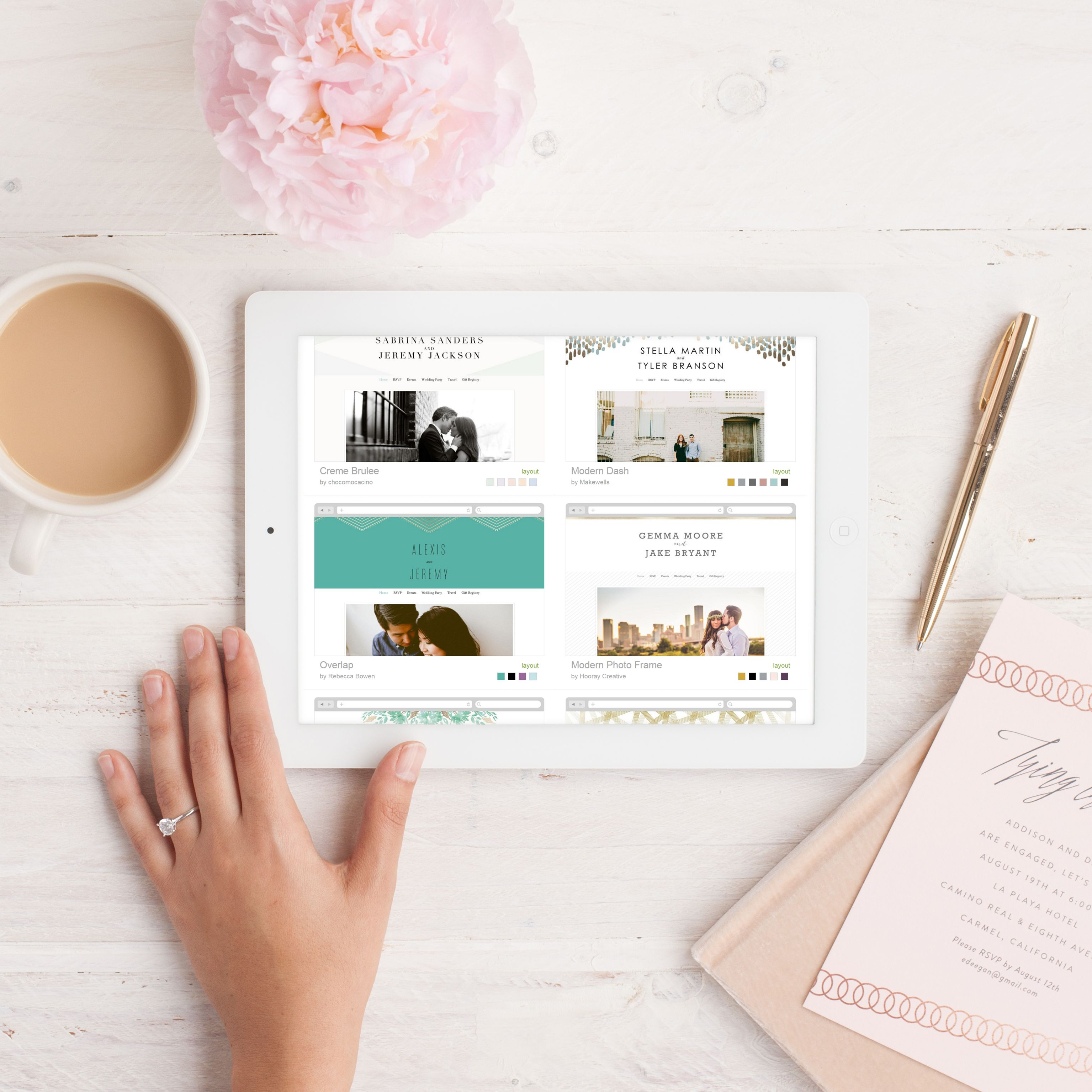 Minted Wedding Website.Love In The Digital Age Sign Up For Minted S Premium Wedding