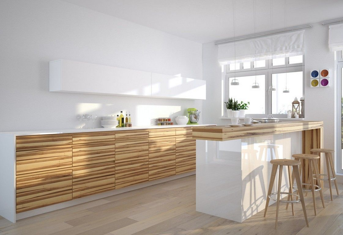 White Kitchen Wood Grain Cabinet  Kitchen  Pinterest  Wood Alluring Modern Wooden Kitchen Designs Decorating Design