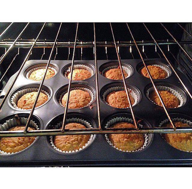 Carrot coconut rice muffin