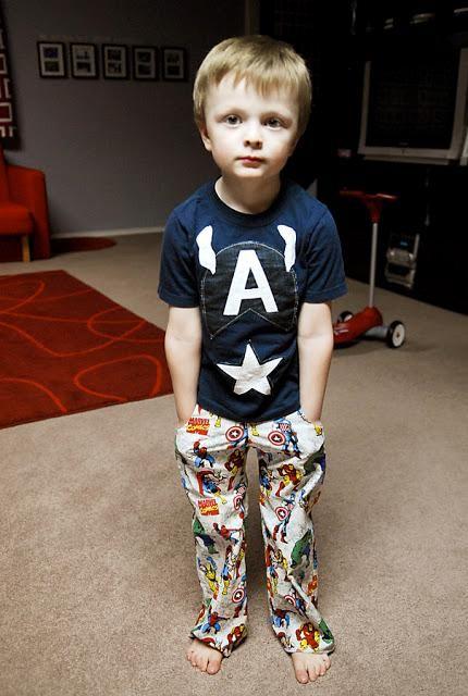 DIY Clothes DIY Refashion: DIY Modern Captain America Tee