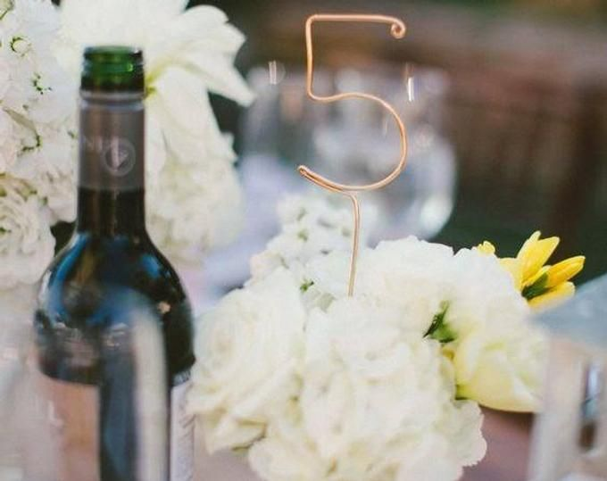 Wire Table Numbers – Rustic Wedding Table Numbers – Reception Table Numbers – Wedding Table Numbers