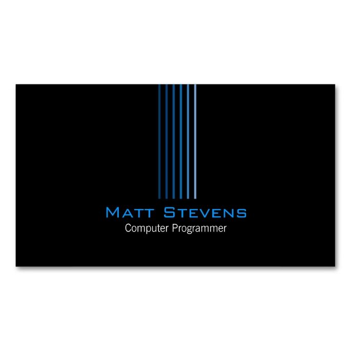 Computer programmer simple business card simple business cards computer programmer simple business card make your own business card with this great design colourmoves Gallery