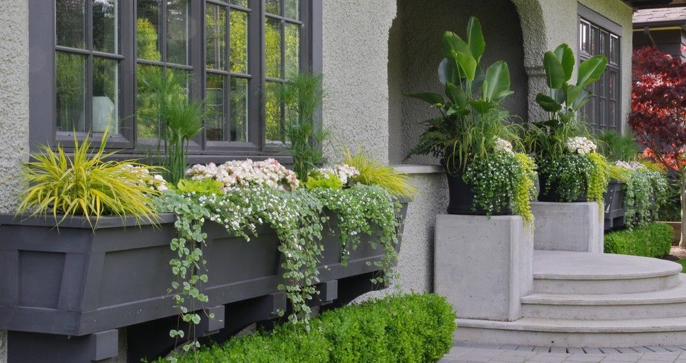 Window box planters landscape traditional with container - Pots et jardinieres ...
