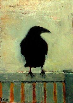 crow on a fence drawing - Google-haku