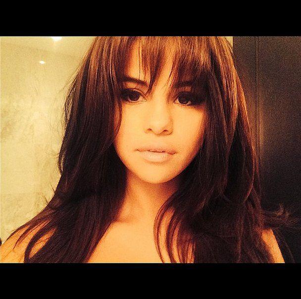 We Love The Full Front Fringe On Selena Gomez Front
