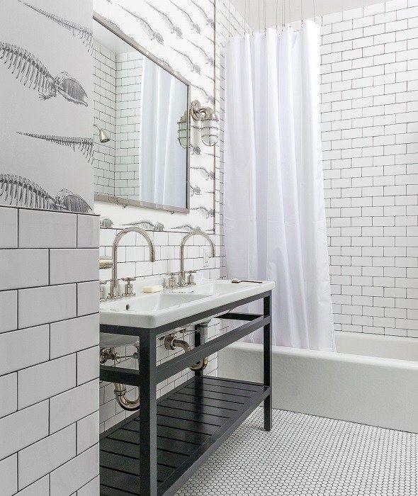 Black And White Kids Bathroom Bathrooms White