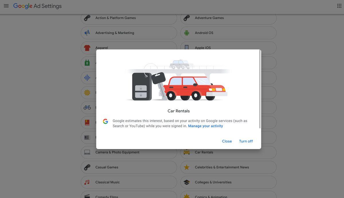 Comment Modifier Vos Parametres Publicitaires Google En 2020 Google Publicitaire Les Publicites