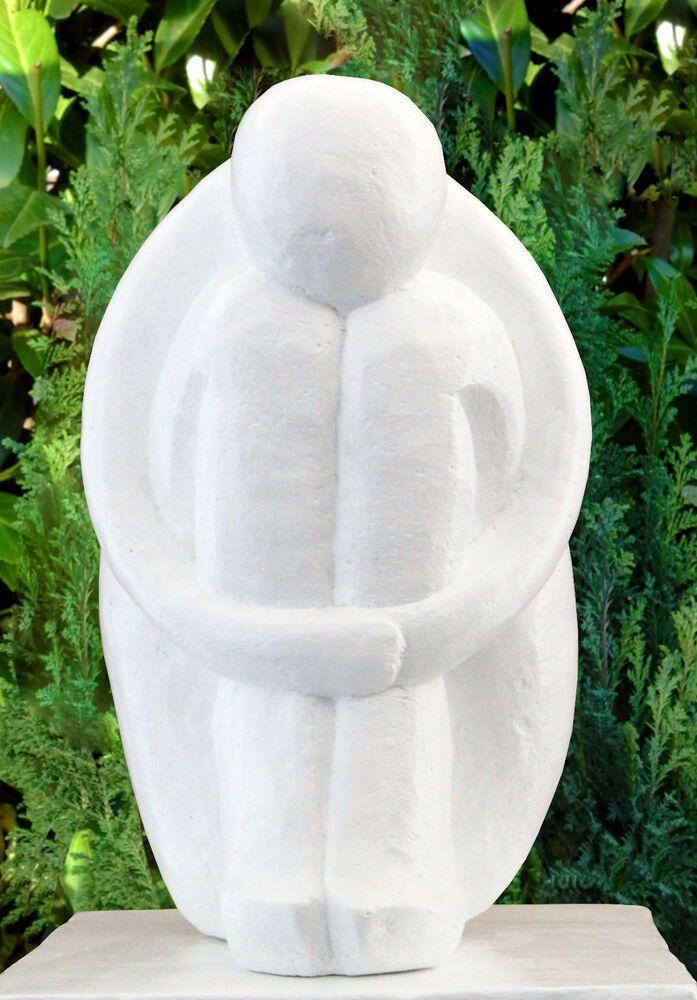 Sculpture en Pierre Type Single Blanc Moderne Décoration de Jardin Statuette