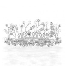Multi Pearls and Crystals Tree of Life Bridal Tiara Comb - $24.99