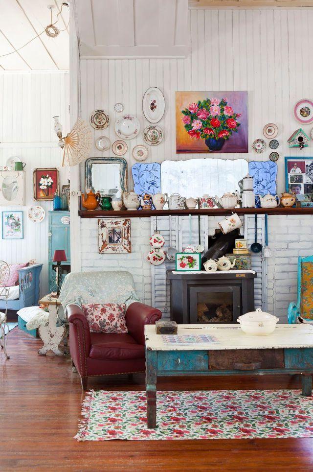 Deco salon vintage, recup : notre inspiration tendance   Mon salon ...