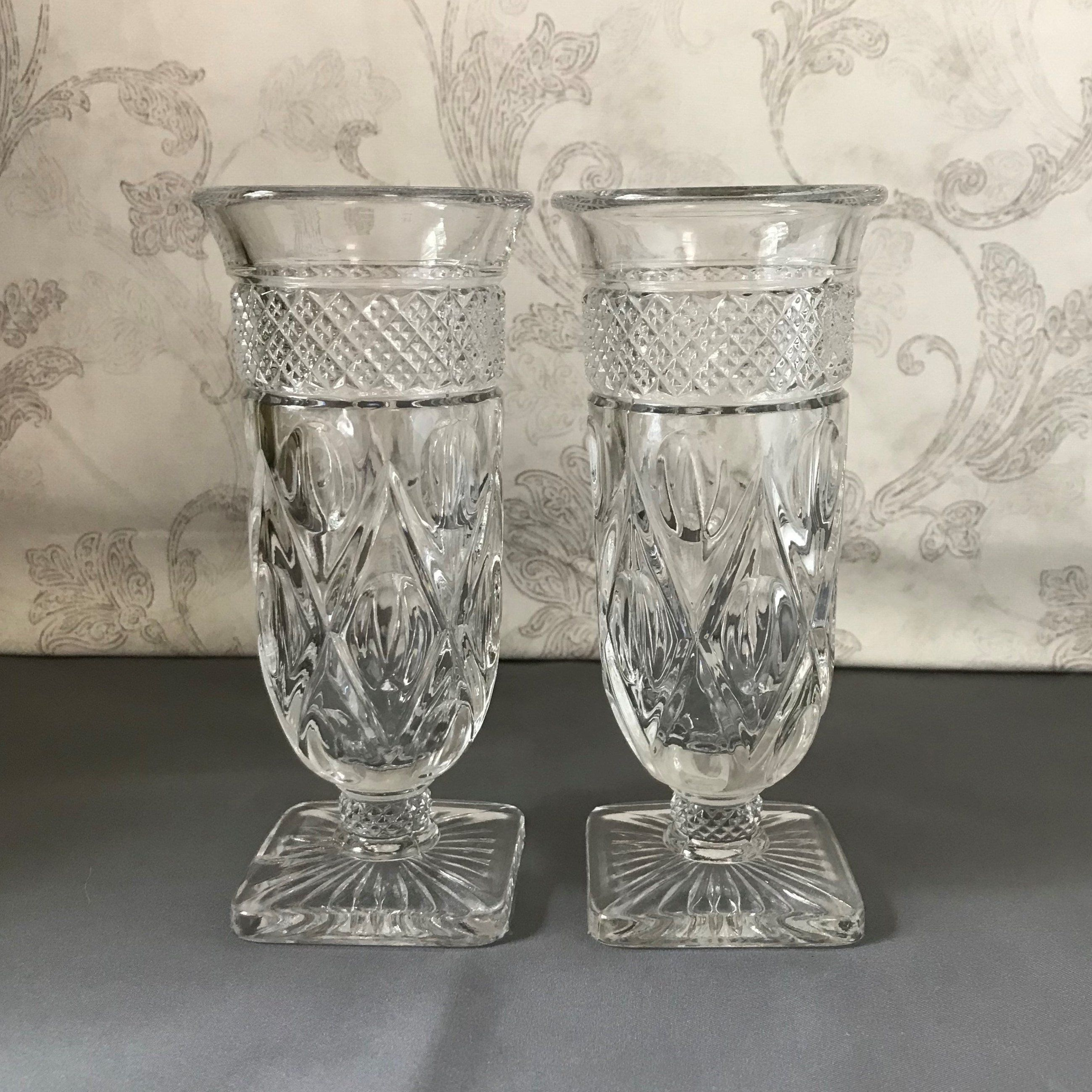 Set Of 2 Parfait Glasses Cape Cod Clear Imperial Glass Vintage Ice Cream Sundae Dish Footed Tumbler Juice Parfait Glasses Vintage Ice Cream Imperial Glass