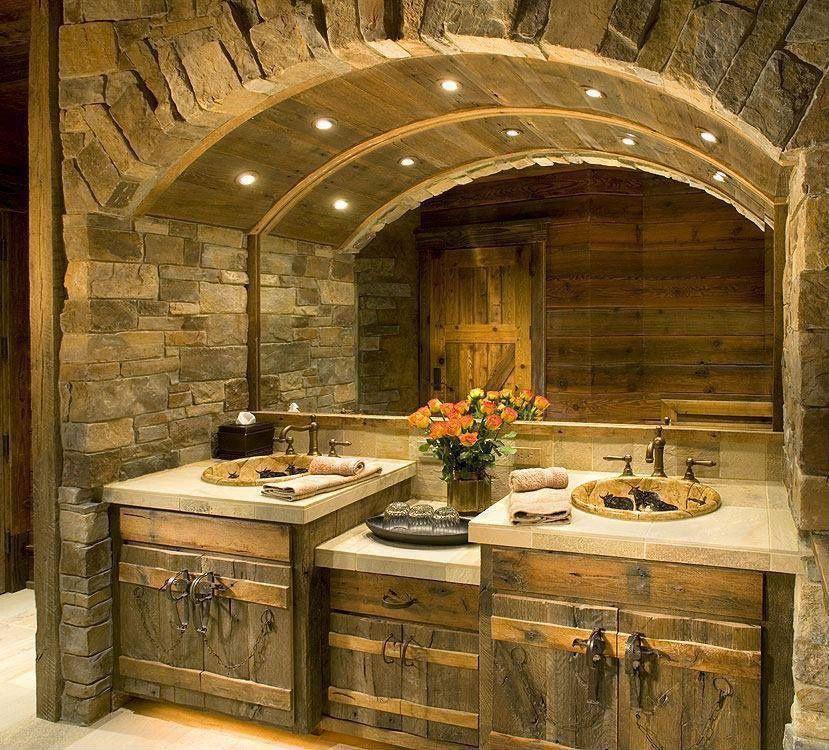 ba u00f1os estilo rustico moderno buscar con google casa Vintage Bathroom Designs Rustic Bathroom Designs Small
