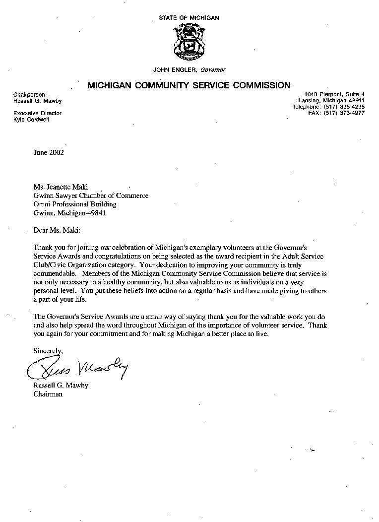 community service letter of recommendation   Hadi.palmex.co