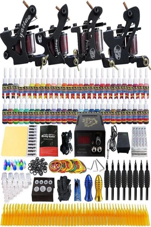 Tattoo machine complete tattoo kit liner shader coil