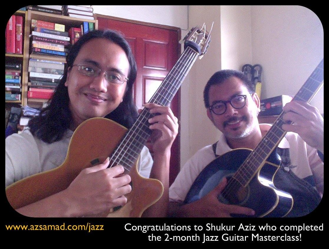 Congratulations To Shukur Aziz Who Completed The 2 Month Jazz Guitar