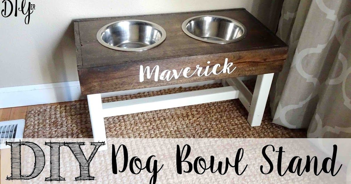 Diy dog bowl stand dog bowl stand dog bowls diy dog food