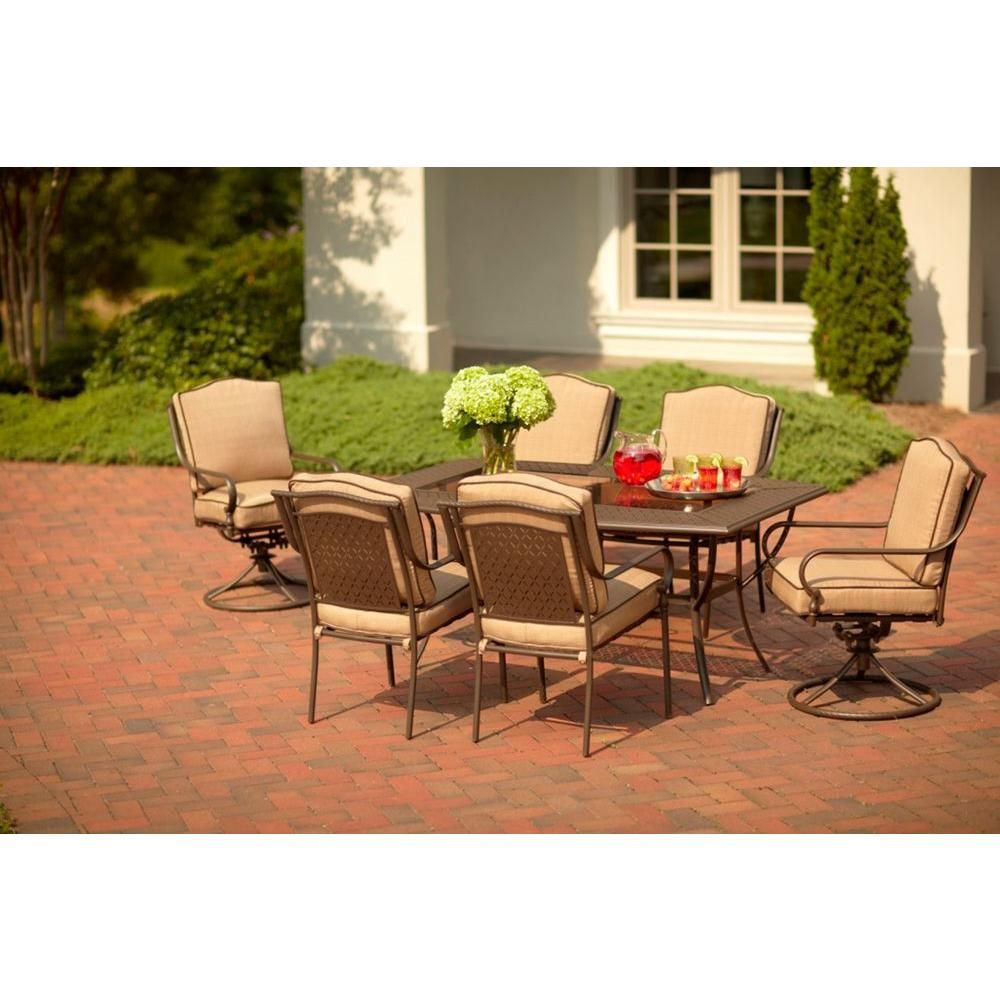 Martha Stewart Living Mallorca 7-Piece Patio Dining Set ... on Martha Stewart 6 Piece Patio Set id=96693