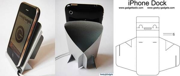 2 Easy Diy Paper Iphone Ipod Stand Cardboard Dock For Smartphones Smartphone Diy Diy Paper Diy