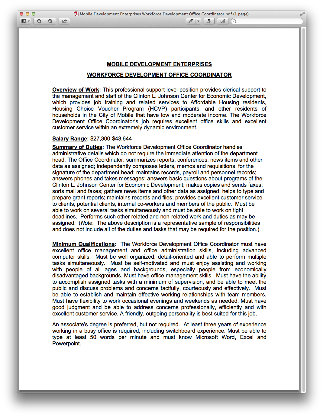 Mobile Development Enterprises Workforce Development
