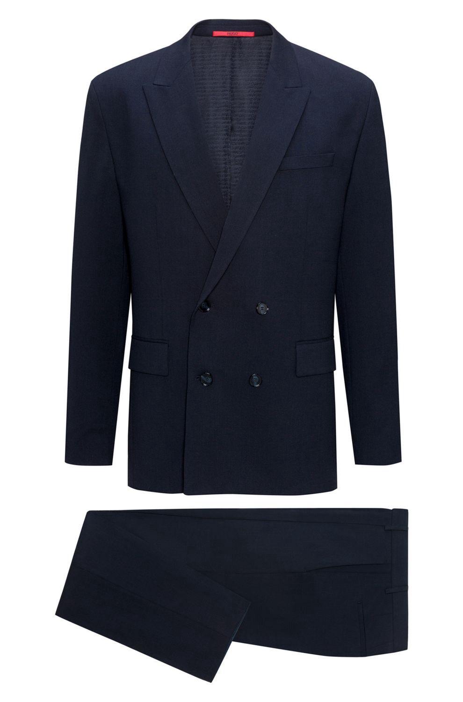 617a54de6459 Hugo Virgin Wool Cotton Suit