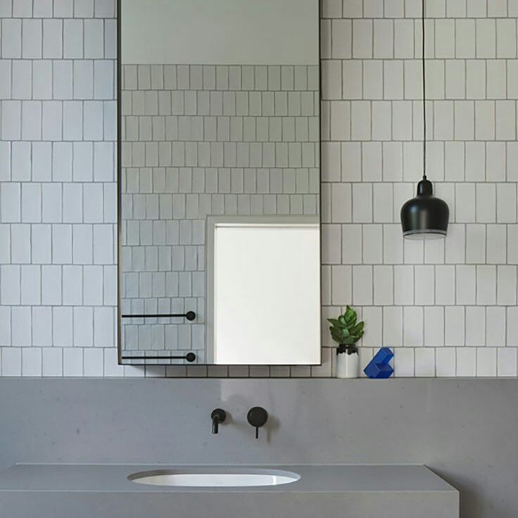 Subway Tiles Laid Vertical Offset Are Always A Nice Alternative.. #bathroom  #building Part 51