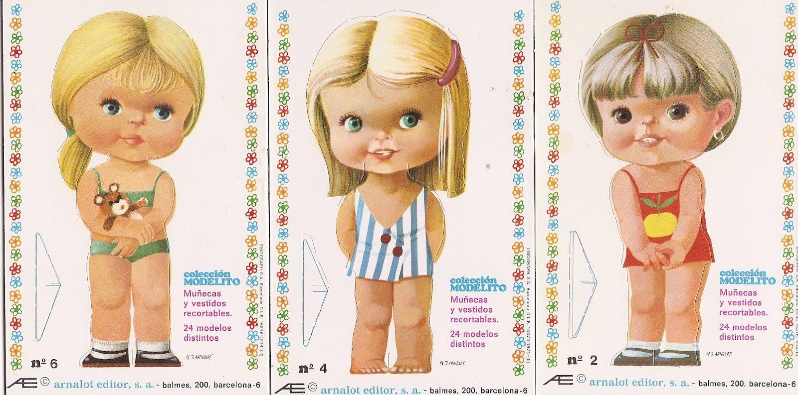 Bonecas de Papel: Bonecas de Papel Cabeçudas Coleção Modelito