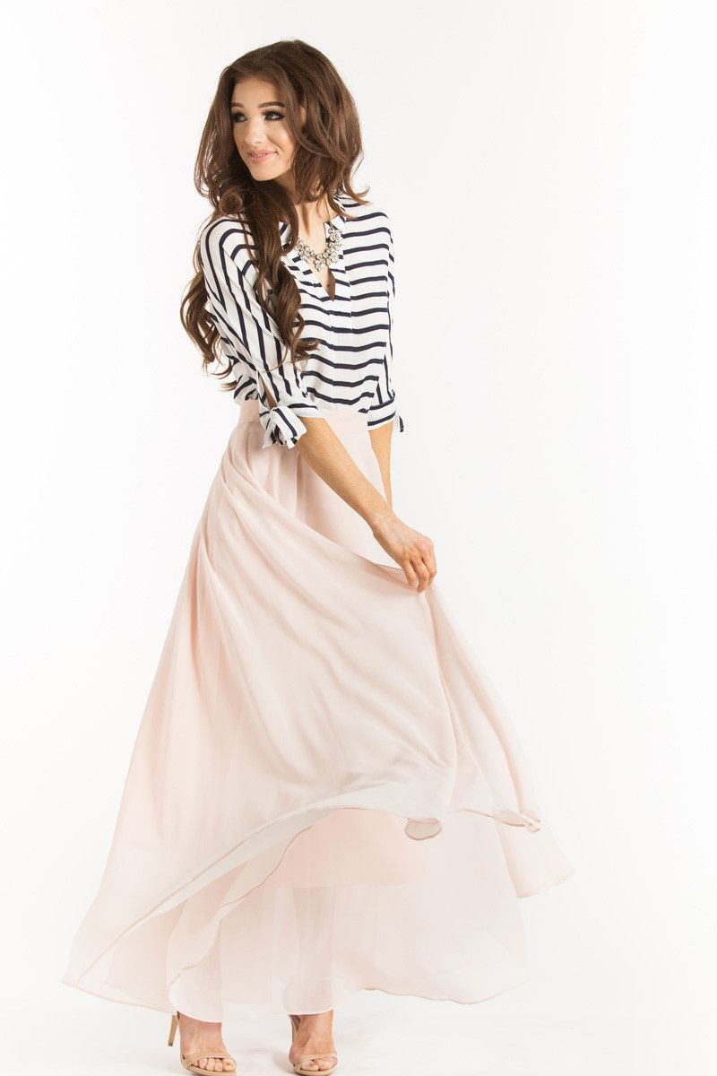 4370c2cf8e6c Amelia Full Pink Maxi Skirt in 2019