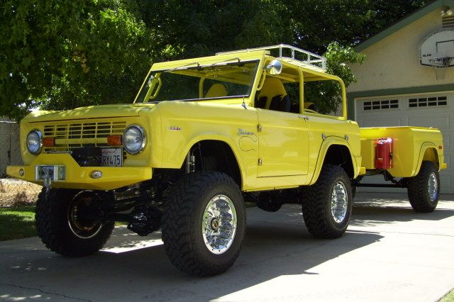 adventure camping this 69 bronco with matching trailer. Black Bedroom Furniture Sets. Home Design Ideas
