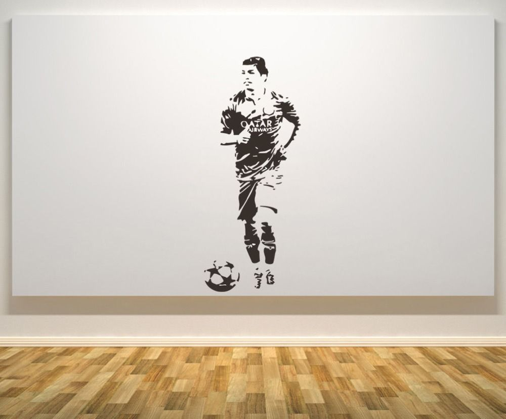 Luis Suarez Wall Decal Brazil Football Player Wall Stickers Home Decor  Living Room Bedroom Modern Fashion