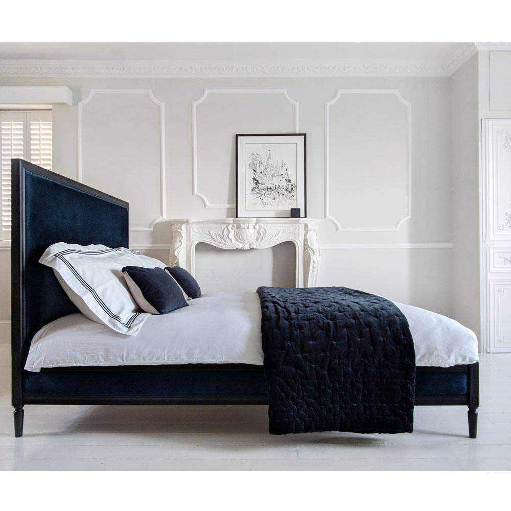 Best Boudoir Noir Luxury Velvet Bed King Size Upholstered 640 x 480