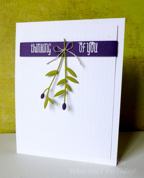 Cas Thinking Of You Olive Branch Card By Jacquie J Cards And Paper Crafts At Splitcoaststampers Simple Cards Card Craft Olive Branch