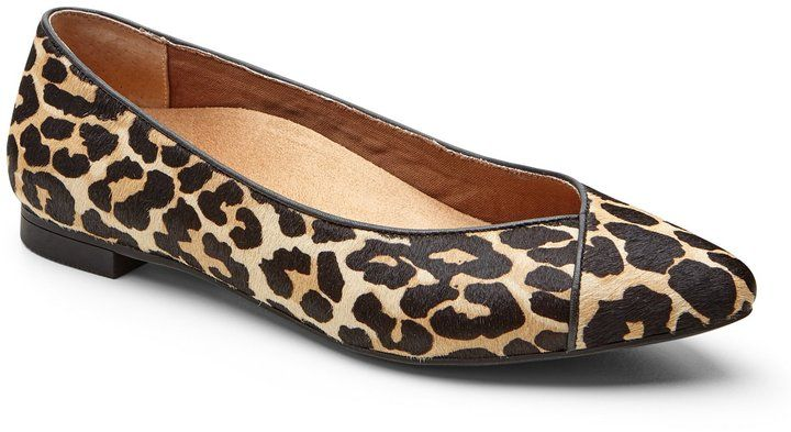 9c7666029202 Vionic WALK.MOVE.LIVE Vionic Caballo Leopard-Print Genuine Calf Hair  Pointed Toe Flats