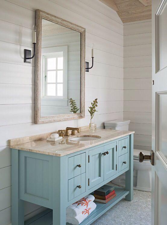 10 Beautiful Half Bathroom Ideas For Your Home Samoreals Beach House Bathroom Bathrooms Remodel Beach Bathroom Decor