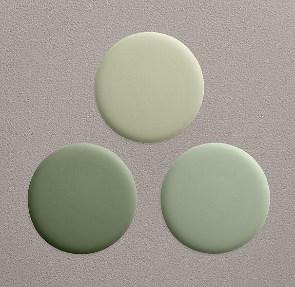 Moss Green Paint Colors: Restoration Hardware Bay Laurel Paint Collection
