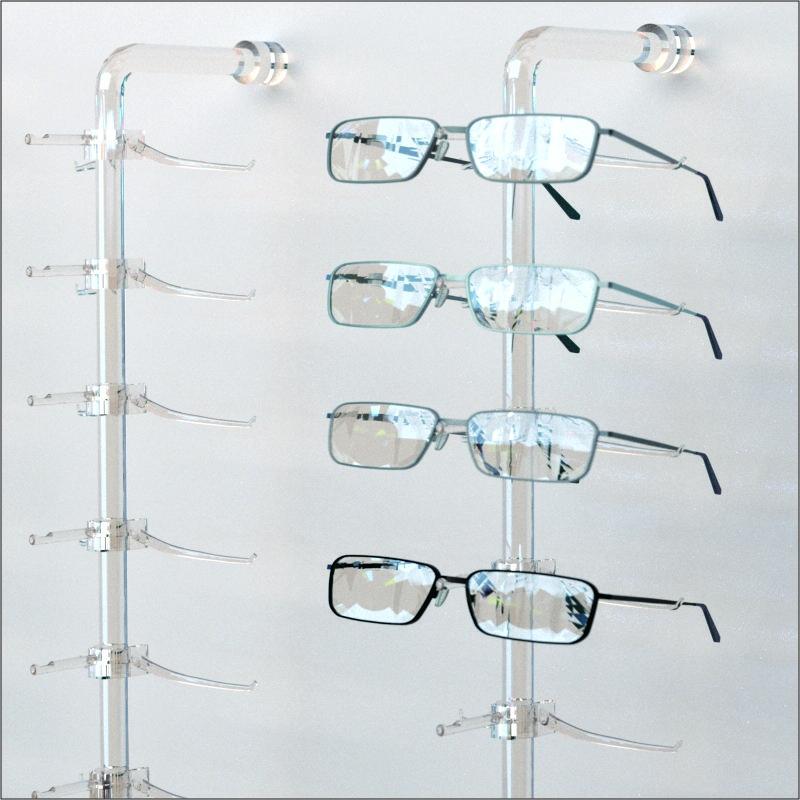 b4a4503b30c8 DWYR Acrylic Wall mount Eyewear   Optical Display Rod W 10