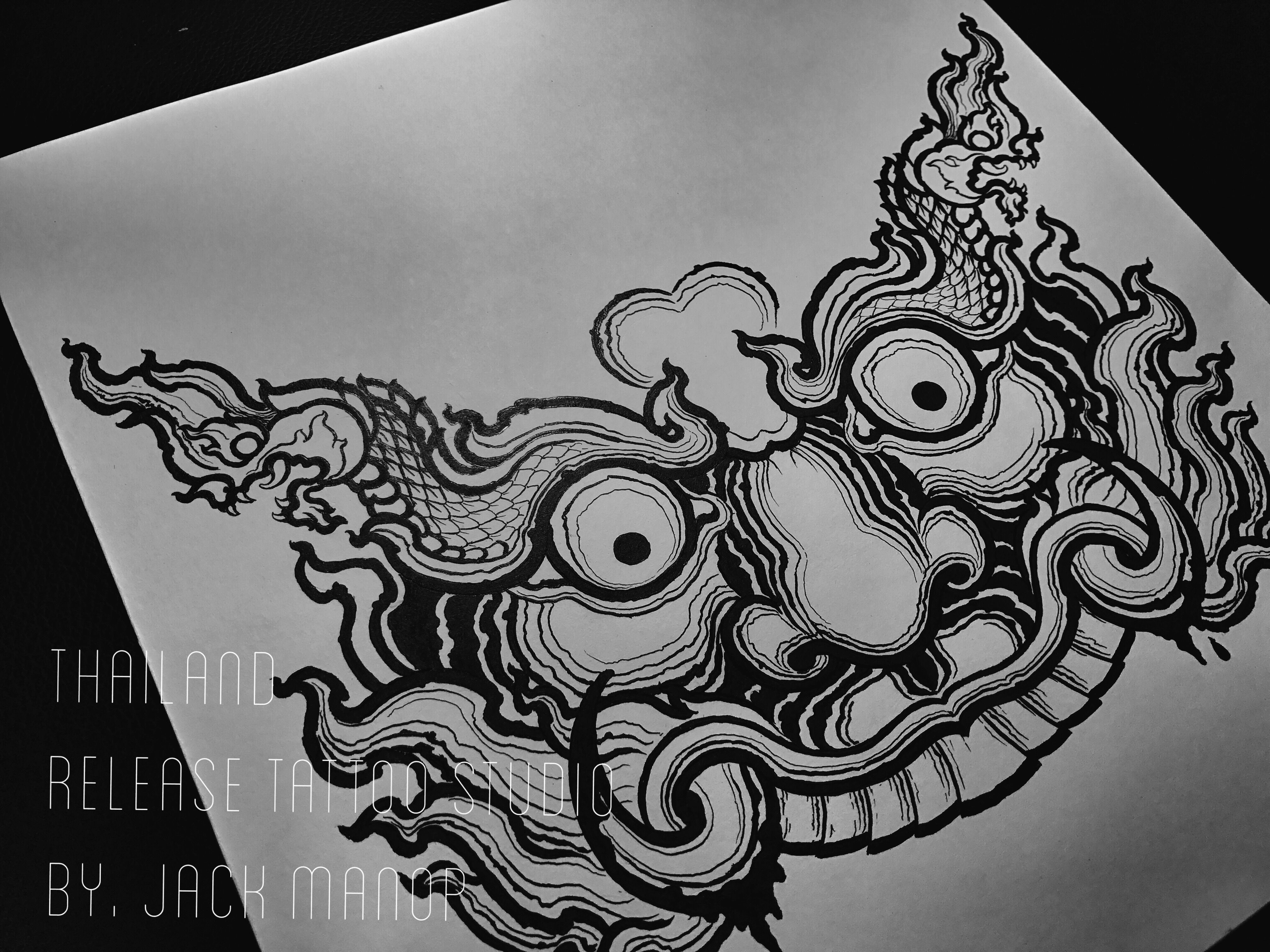 Thailand Tattoo    Black Work    Tattoo