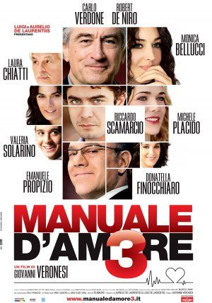The Ages of Love (Manuale d'amore 3, also known as Manual of Love 3) is a 2011 Italian romantic comedy film consisting of three segments, with . It was directed by Giovanni Veronesi. The film is set in Castiglione della Pescaia and in Rome. Filming started in Rome on 24 September 2010 and in Castiglione della Pescaia on 18 October. The final scene of De Niro and Monica Bellucci was filmed in the Villa Pizzetti Hospital in Grosseto, on 20 October.