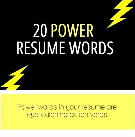 not sure what words to use here let this info graph help - Resume Power Words