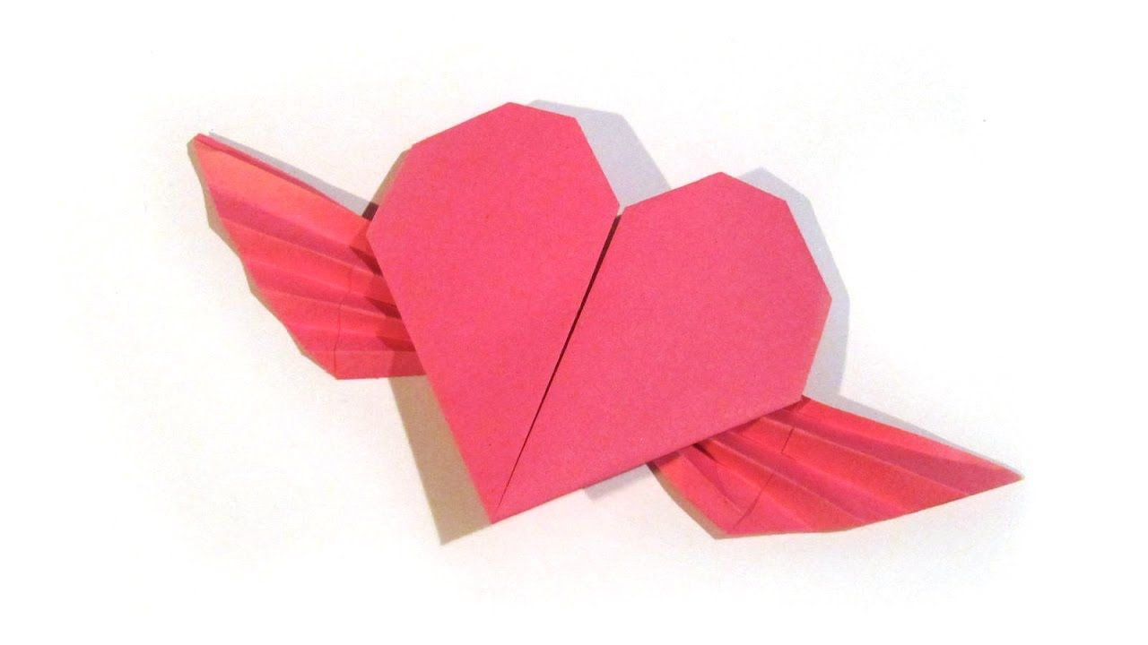 Valentine S Day Origami Flying Heart Origami Easy