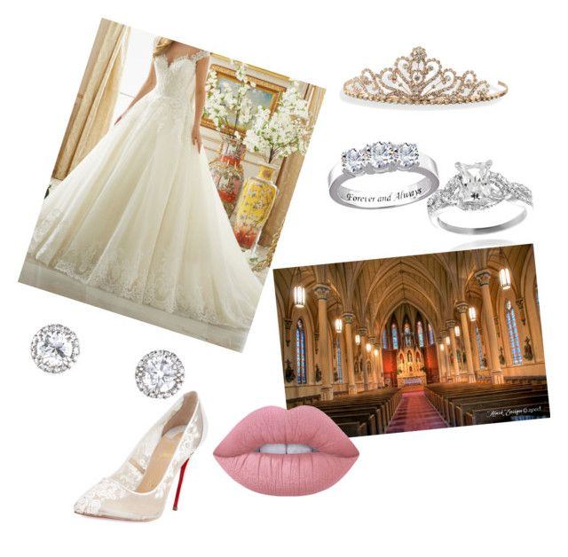 """Wedding Day"" by onceuponatime0907 ❤ liked on Polyvore featuring BillyTheTree, Journee Collection, Christian Louboutin and Lime Crime"