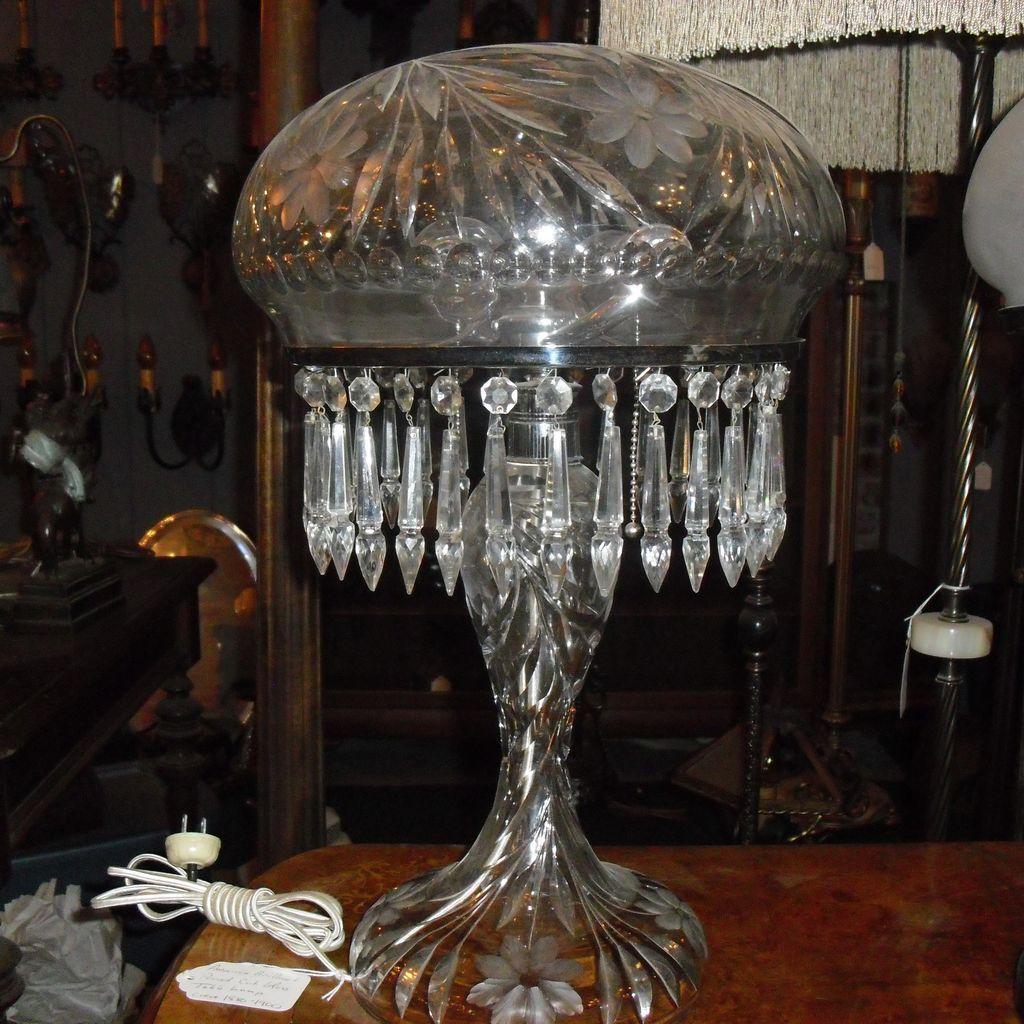 Cut glass table lamp american brilliant period from ruby lane cut glass table lamp american brilliant period from ruby lane mozeypictures Images