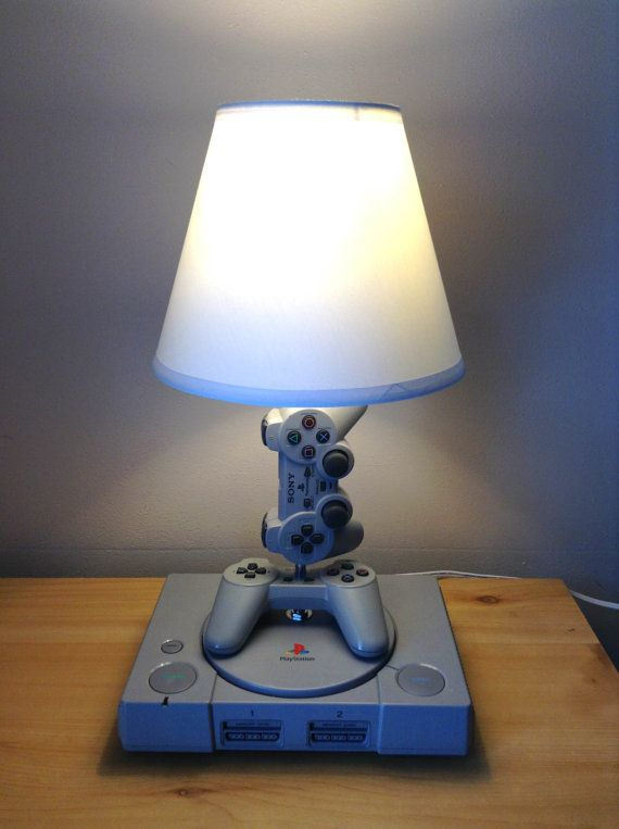Playstation 1 Console And Controller Desk Lamp By Woody6switch 94 99 Video Game Room Design Game Room Decor Game Room Design
