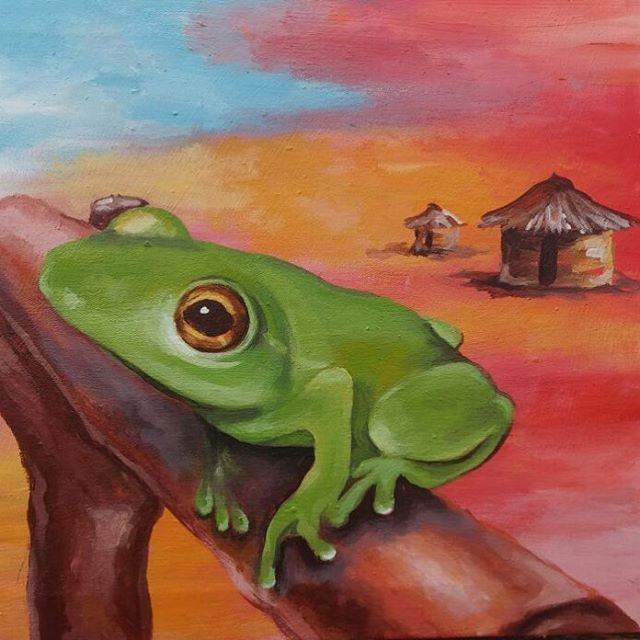 Frog Art From Savethefrogsghana By Alexisyangtibr Www