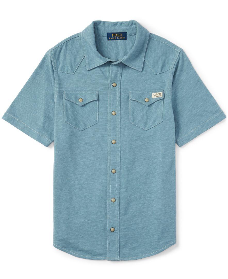 Ralph Lauren Boys' Western-Style Shirt