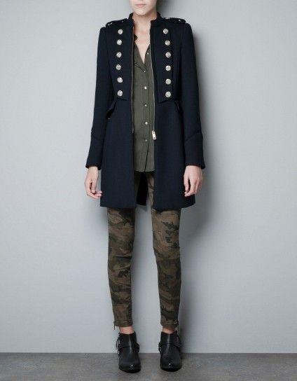 giacca militare ragazza zara