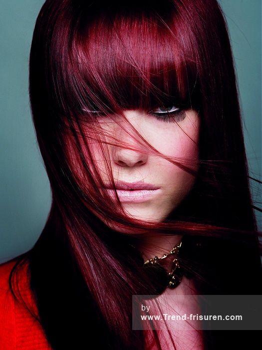 KEUNE Lange Rot weiblich Gerade Farbige Niederländisch Frauen Frisuren hairstyles
